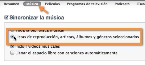 sincronizar listas de reproduccion itunes Como sincronizar música específica en tu iPod