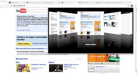 Visualiza tus pestañas de Google Chrome en un Cover Flow - visual-tab1