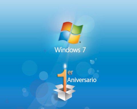 windows 7 Windows 7 cumplió 1 año