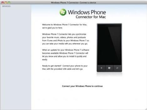 Disponible Windows Phone 7 Connector para Mac - windows-phone-7-connector