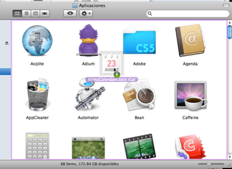 2010 11 27 17 08 35 Mostrar un calendario desplegable en la barra de menús de Mac OSX