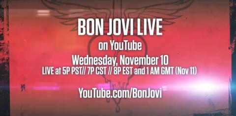 bon jovi youtube Bon Jovi en vivo por YouTube