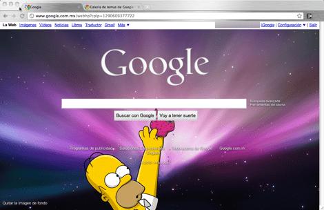google imagen de fondo1 Como colocar una imagen de fondo a tu página de inicio de Google