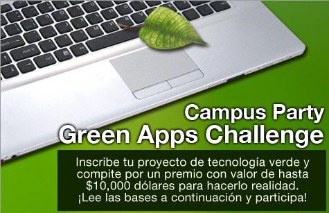 Emprende con tecnologías verdes con Campus Party - green-apps-challenge-campus-party