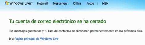Desactivar tu cuenta de Hotmail - hotmail-desactivado