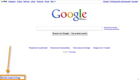 imagen de fonde Como colocar una imagen de fondo a tu página de inicio de Google