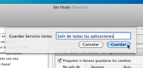 nombre servicio automator Como cerrar todas tus aplicaciones abiertas en Mac