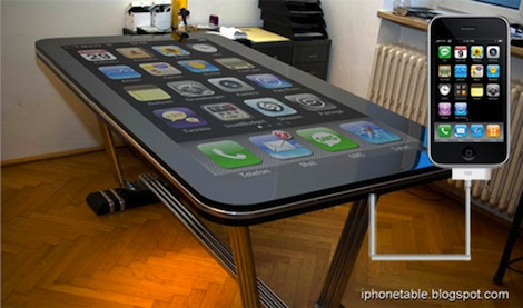 Table Connect: una mesa que se conecta a tu iPhone - phonetable_01_iPhone_Connector5678_490px