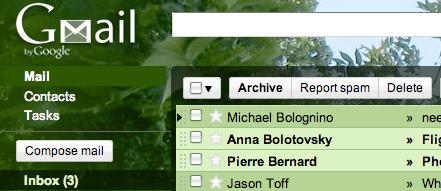 5 nuevos temas para Gmail - tree_tops