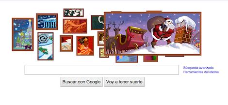 Captura de pantalla 2010 12 23 a las 10.04.46 Google celebra la Navidad con Doodle interactivo