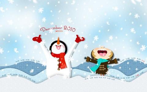 Fondos Diciembre y Navidad 2010 - fondos-navidad-fun-snow