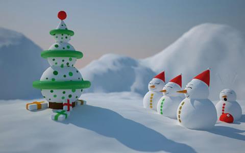 fondos navidad snowman Wallpapers de navidad 2010