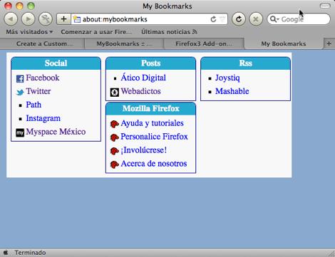 Crear una página personalizada de Marcadores en Firefox - 2011-01-19_23-29-31