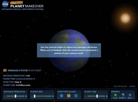 Extreme Planet MakeOver, crea tu propio planeta - crear-planeta-nasa