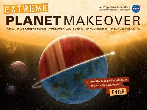 Extreme Planet MakeOver, crea tu propio planeta - juego-nasa-planetas