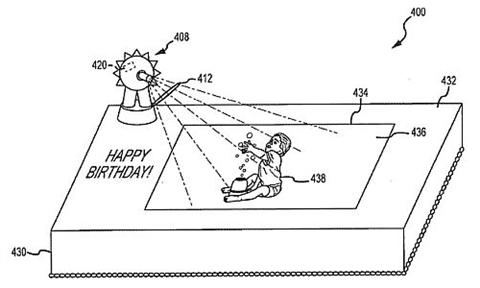 pastel interactivo patente Disney patenta pastel interactivo