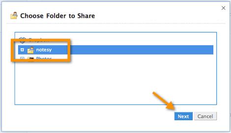 Como compartir una carpeta en Dropbox - seleccionar-carpeta-dropbox