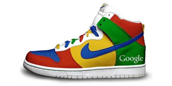 Zapatos deportivos Nike versión Google y Twitter - Nike-google