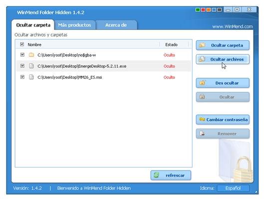 Ocultar carpetas o archivos en Windows con Winmend Folder Hidden - WinMendFolderHidden