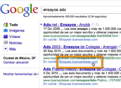 Como bloquear algunos resultados de búsqueda en Chrome - bloquear-sitios