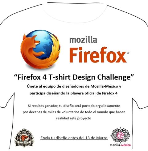 Diseña la playera de Firefox 4 - disena-playera-firefox-4