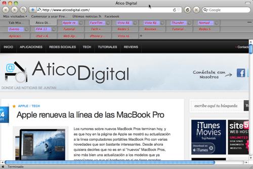 Haz que Firefox utilice múltiples filas para las pestañas - efef