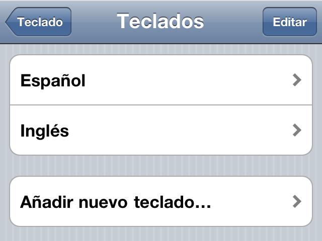 nuevo teclado agregado Cómo agregar otro teclado de diferente idioma en tu iPhone o iPad