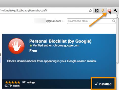 Como bloquear algunos resultados de búsqueda en Chrome - personal-blocklist1