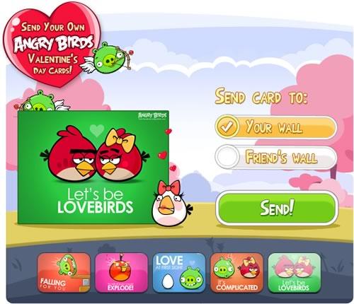 postales amor angry birds Postales para San Valentín de Angry Birds