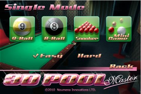 3D Pool Master, un entretenido juego de billar para iPhone - 3d-Pool-master