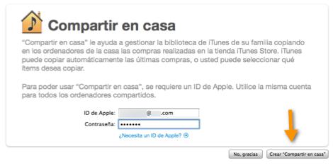 Captura de pantalla 2011 03 14 a las 21.12.15 Como activar Compartir en Casa en iTunes