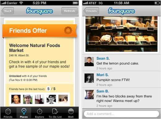 Foursquare para iPhone se actualiza a la versión 3.0 - Foursquare-for-iphone3.0