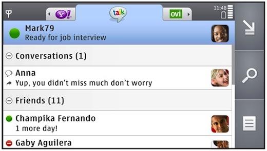Nokia actualiza el Chat de Symbian S60 - Gtalk-Tab-Chat-2.5-Blog