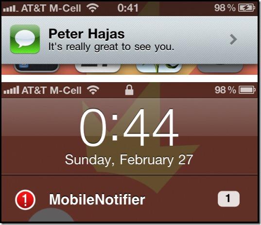 Modifica las notificaciones del iPhone con MobileNotifier - Mobile-Notifier
