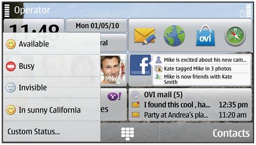 Nokia actualiza el Chat de Symbian S60 - Widget-Status-Chat-2.5-Blog