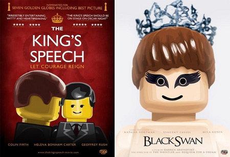 lego oscar posters Las películas nominadas al Oscar vueltas Lego