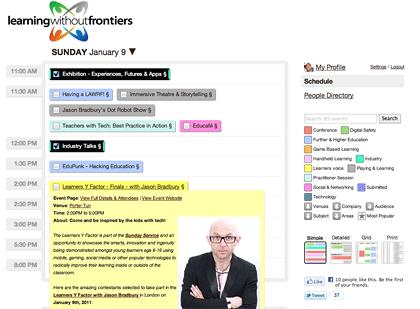 social calendar tool Crea calendarios sociales con Sched