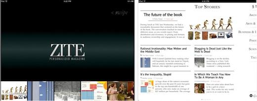 Zite, la revista personalizada de feeds para iPad - zite-la-revista-personalizada