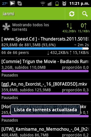 transdroid  Controla tus torrents desde la comodidad de tu Android