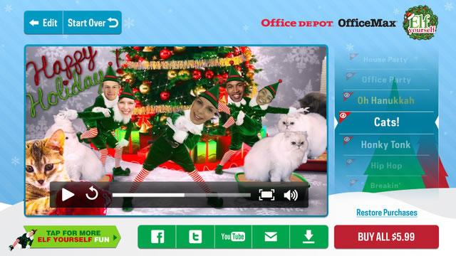 Postales de navidad animadas y divertidas en ElfYourself - elfyourself-video-postales-de-navidad