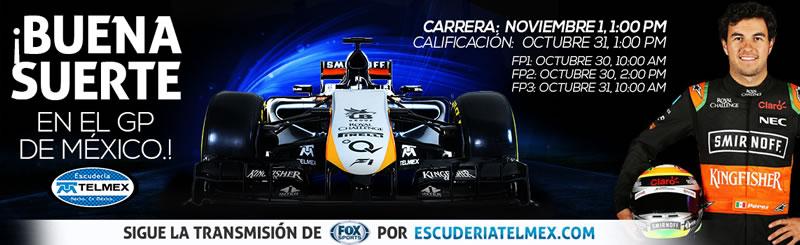 Sigue la prácticas del Gran Premio de México 2015 en vivo por internet - practicas-formula-1-premio-de-mexico-en-vivo-fox-sports