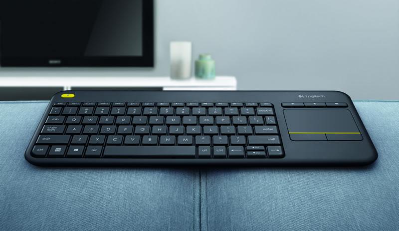 Logitech presenta el teclado touch inalámbrico Logitech K400 Plus - teclado-touch-inalambrico-logitech-k400-plus
