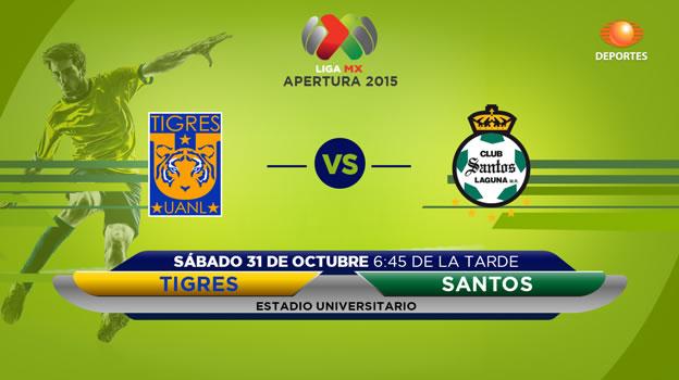 Tigres vs Santos, Jornada 15 del Apertura 2015 - tigres-vs-santos-en-vivo-apertura-2015