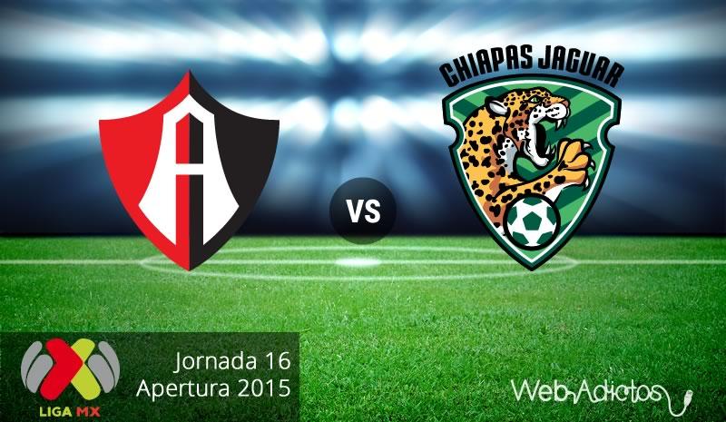 atlas vs jaguares apertura 2015 Atlas vs Jaguares, Fecha 16 del Apertura 2015