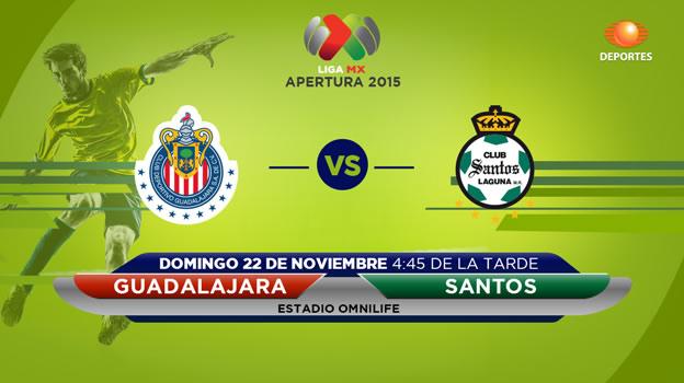 Chivas vs Santos, última jornada del Apertura 2015 - chivas-vs-santos-en-vivo-apertura-2015-televisa