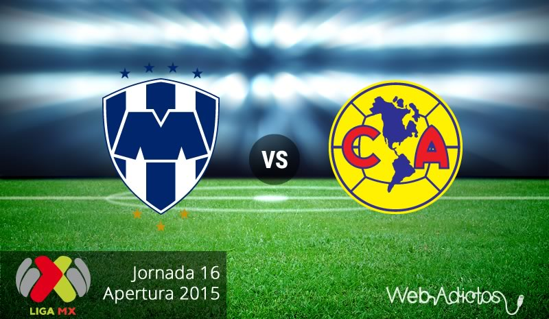 monterrey vs america apertura 2015 Monterrey vs América, Fecha 16 del Apertura 2015