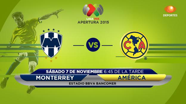 Monterrey vs América, Fecha 16 del Apertura 2015 - monterrey-vs-america-en-vivo-apertura-2015