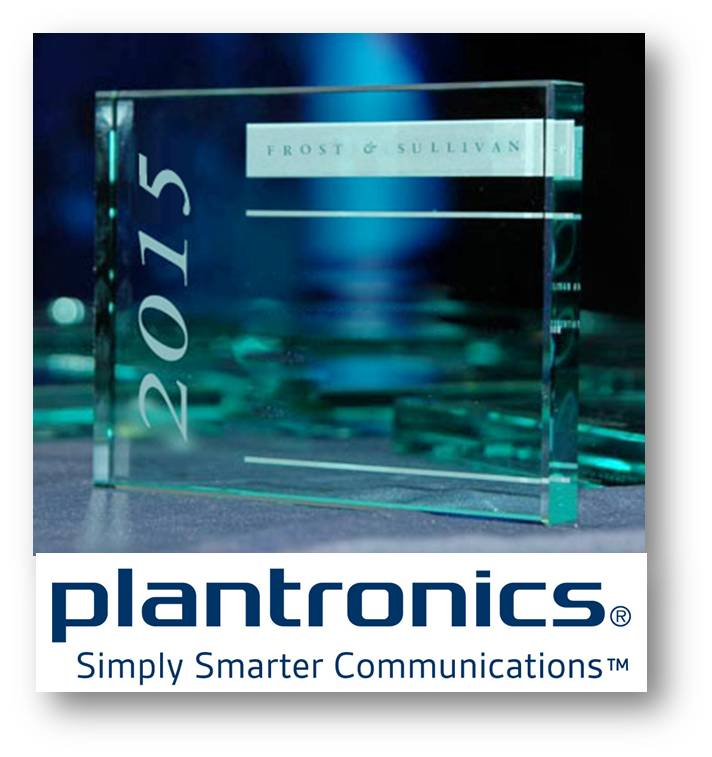 plantronics recibe el premio frost sullivan 2015 Plantronics recibe el premio Frost & Sullivan 2015