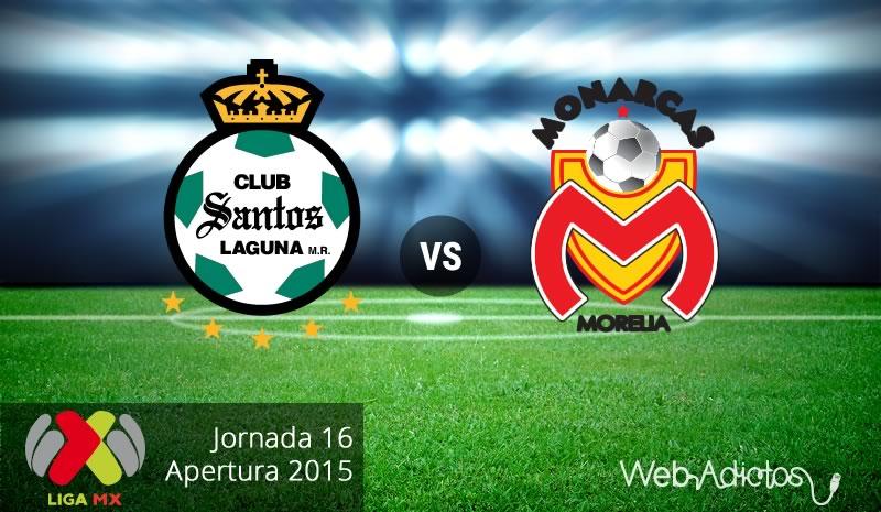 Santos vs Morelia, Fecha 16 del Apertura 2015 - santos-vs-morelia-apertura-2015