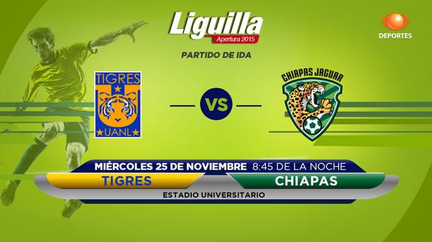 Tigres vs Jaguares, Liguilla del Apertura 2015 | Partido de ida - tigres-vs-jaguares-en-vivo-televisa-liguilla-apertura-2015